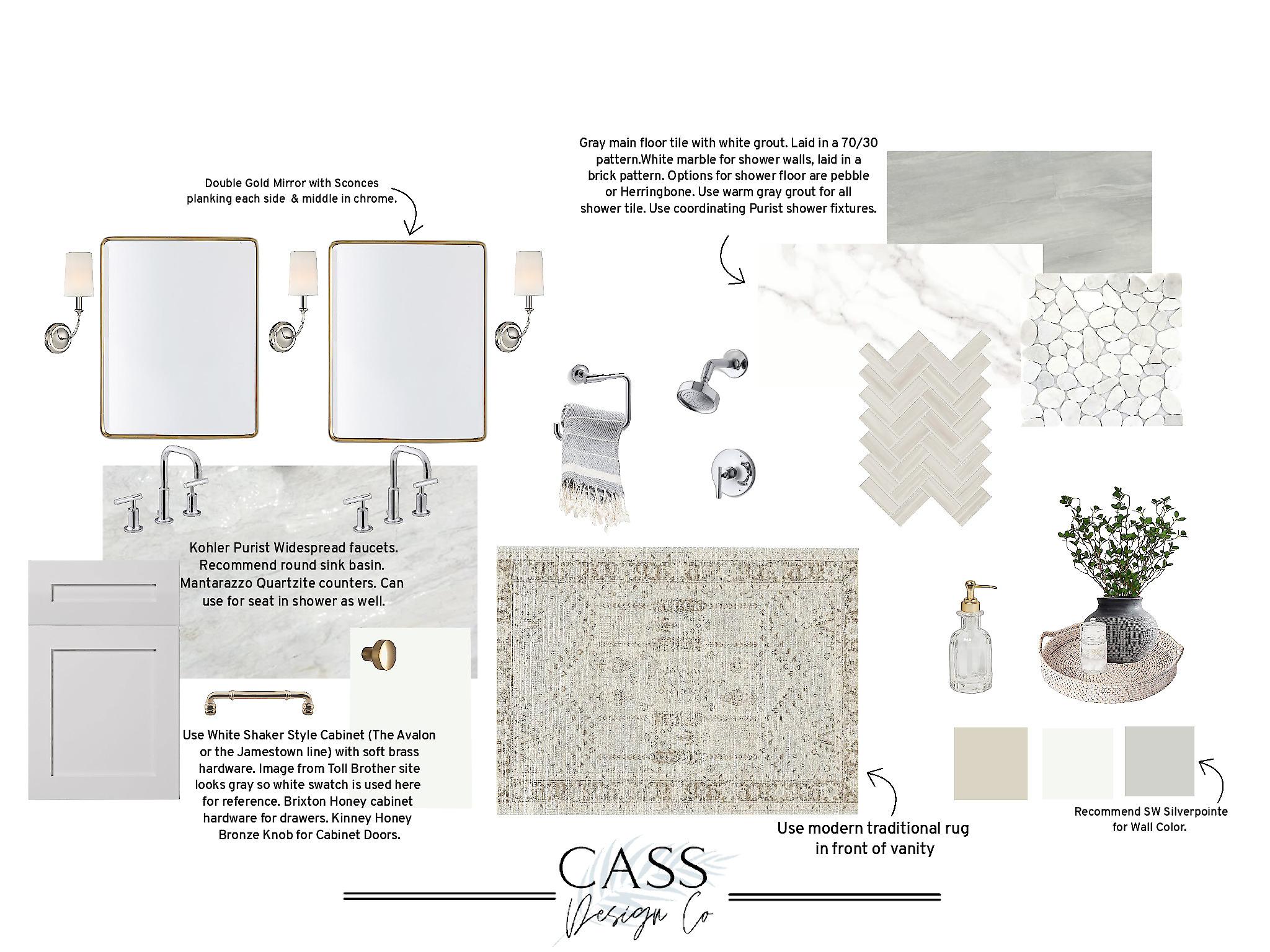 Master Bathroom Design with Spa Feel